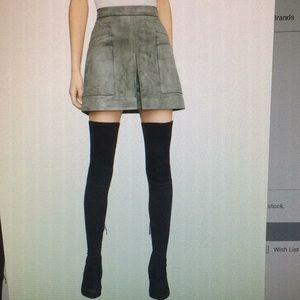 BcbgMaxazria Faux Suede Utility  Skirt.